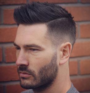 Taper Fade + Part + Textured Spiky Hair