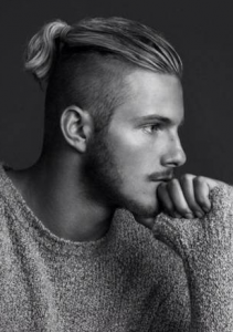 Top Ponytail and Shaved Sides