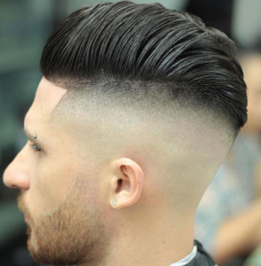 Bald Undercut with Pompadour