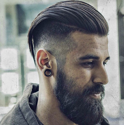 High Taper Fade with Long Slicked Back Hair The Hair Stylish