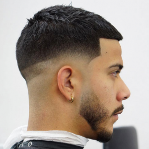 Low Bald Fade + Short Cropped Hair