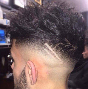 Messy Textured Hair with High Razor Fade
