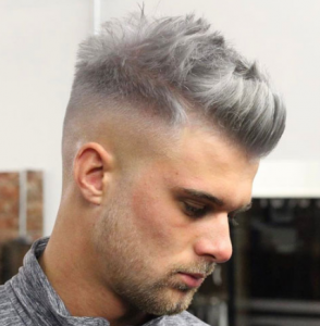 Textured Quiff with High Fade and Beard