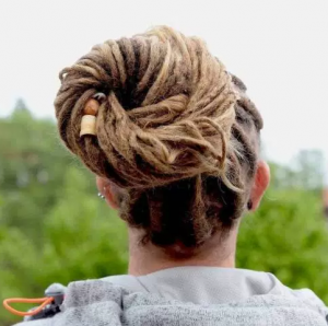 Loose Bun for Dreads