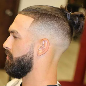Man Bun with Fade Line Up