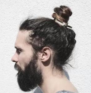 Swirled Bun in Wavy Hair