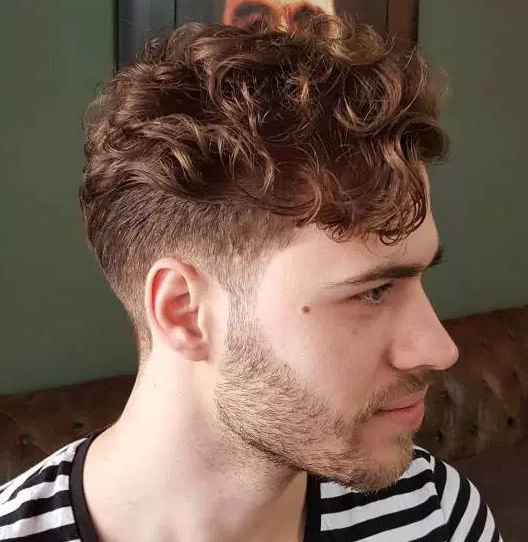Taper Cut With Curly Top The Hair Stylish