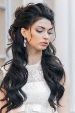 women for long hair style