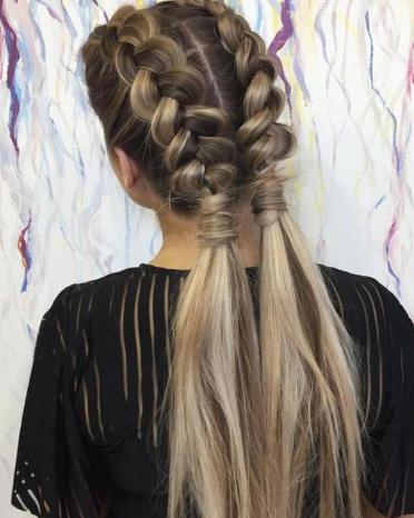 2 dutch braids