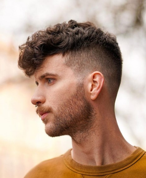 skin fade with Natural curls